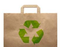 Bolso de papel del eco de las compras Fotografía de archivo