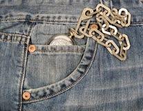 Bolso de relógio das calças de brim Imagem de Stock