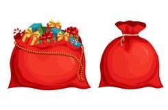 Bolso de Santas de la Navidad Foto de archivo