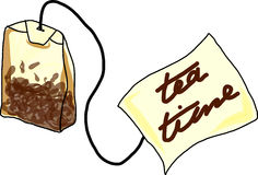 Bolso de té Ilustración del Vector