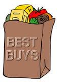 Bolso de tienda de comestibles Fotografía de archivo libre de regalías