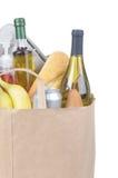 Bolso de tienda de comestibles con las manetas imagen de archivo libre de regalías