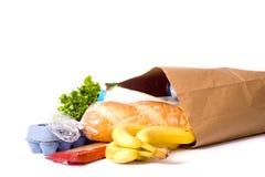 Bolso de tiendas de comestibles en blanco Fotografía de archivo libre de regalías