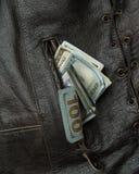 Bolso de veste do dinheiro Fotos de Stock Royalty Free