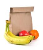 Bolso del almuerzo - camino fotografía de archivo