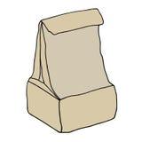 Bolso del almuerzo del papel de Brown Fotos de archivo libres de regalías
