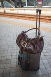 Bolso del bolso y del viaje. imagen de archivo