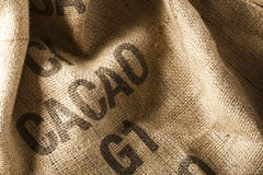 Bolso del cacao Foto de archivo libre de regalías