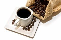 Bolso del café y de la taza de café Imagen de archivo