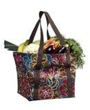 Bolso del comprador con las frutas y verdura Fotografía de archivo libre de regalías