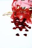 Bolso del confeti del corazón Foto de archivo libre de regalías