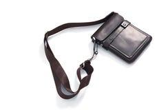 Bolso del cuero marrón Foto de archivo libre de regalías