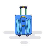 Bolso del equipaje con las ruedas Fotografía de archivo libre de regalías