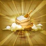Bolso del fondo del vector del arroz stock de ilustración