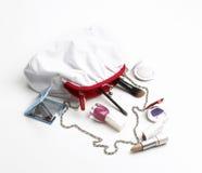 Bolso del maquillaje imágenes de archivo libres de regalías