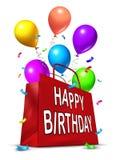 Bolso del partido del feliz cumpleaños Imagen de archivo libre de regalías