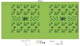 Bolso del regalo con el fondo verde Fotos de archivo