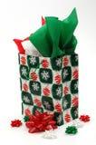Bolso del regalo de la Navidad Imagen de archivo
