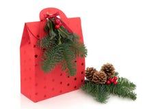 Bolso del regalo de la Navidad fotos de archivo libres de regalías