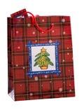 Bolso del regalo de la Navidad imágenes de archivo libres de regalías