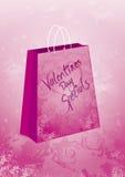 Bolso del regalo de los Specials de las tarjetas del día de San Valentín fotografía de archivo libre de regalías