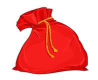 Bolso del regalo de Papá Noel ilustración del vector