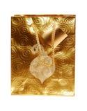 Bolso del regalo del oro Fotos de archivo libres de regalías