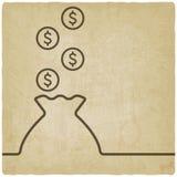 Bolso del símbolo del dinero Imagenes de archivo