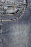 Bolso dianteiro das calças de brim Imagens de Stock