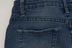 Bolso do fragmento da textura das calças de brim Imagens de Stock