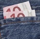 Bolso dos euro Fotos de Stock