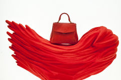 Bolso elegante rojo imagen de archivo