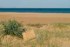 Escena del verano en playa Fotos de archivo