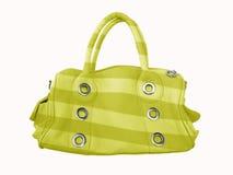 Bolso femenino amarillo fotografía de archivo
