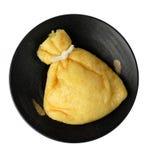 Bolso frito del queso de soja foto de archivo