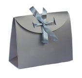 Bolso gris del regalo Fotos de archivo
