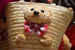 Bolso hecho a mano del oso de peluche Imágenes de archivo libres de regalías