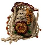 Bolso hecho a mano hecho punto del regalo Foto de archivo libre de regalías
