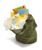 Bolso lleno del correo Imagen de archivo