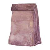 bolso marrón del almuerzo Fotos de archivo libres de regalías