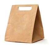 Bolso marrón de papel Imágenes de archivo libres de regalías