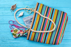 Bolso moderno de la materia textil para las mujeres Imagen de archivo libre de regalías