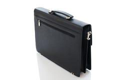 Bolso negro aislado en un blanco Fotos de archivo libres de regalías