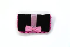 Bolso negro de los cosméticos Imagen de archivo