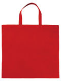 Bolso no tejido rojo de la muestra Imágenes de archivo libres de regalías