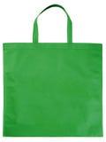 Bolso no tejido verde de la muestra Fotografía de archivo libre de regalías
