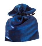 Bolso púrpura del paño para la joyería Imagen de archivo libre de regalías