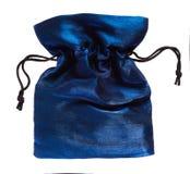 Bolso púrpura del paño para la joyería Fotografía de archivo
