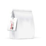 Bolso para los productos a granel, té, café, especias del Libro Blanco Fotografía de archivo libre de regalías