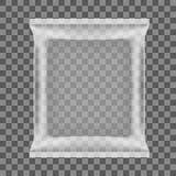Bolso plástico de la almohada del bocado transparente de la comida Imagen de archivo